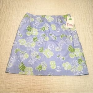 Lilly Pulitzer NWT Palm Beach Print Skirt